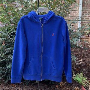 Polo Royal Blue Hooded Sweat jacket, XL